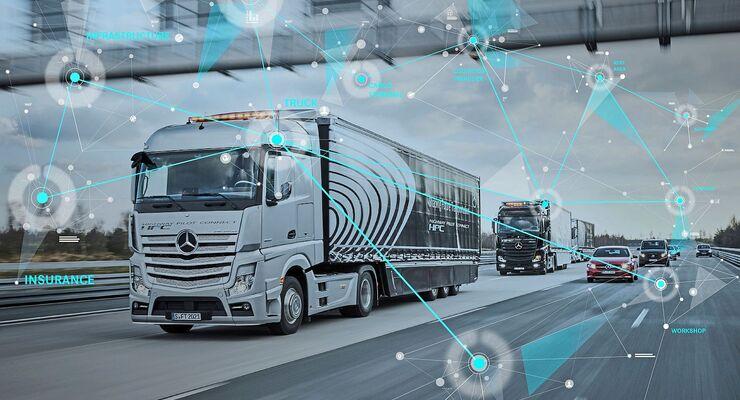 Vernetzung mit dem Daimler Mercedes Actros HPC