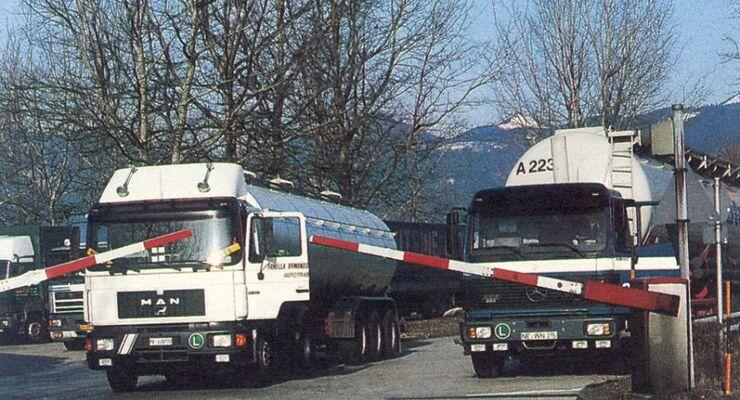 1993, Binnenmarkt, EG, Lkw, Schlagbaum