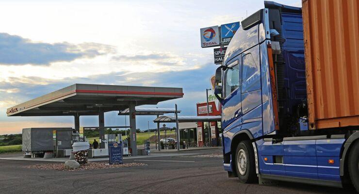 24-Autohof Halle-Tornau, Juni 2016. Truckstop, Autohof