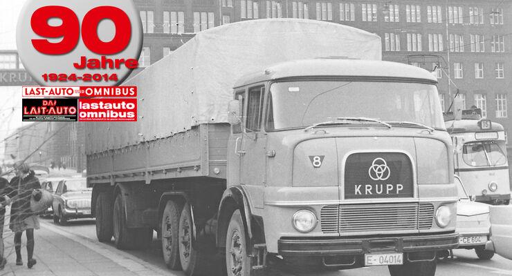 90 Jahre lastauto omnibus, V-Motoren, Krupp