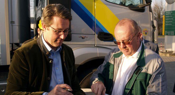 Abbiegeassistent, Lkw, Andreas Scheuer, Verkehrsminister, Bundesverkehrsminister, Dekra