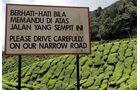 Abenteuer, Malaysia, Verkehrsschild