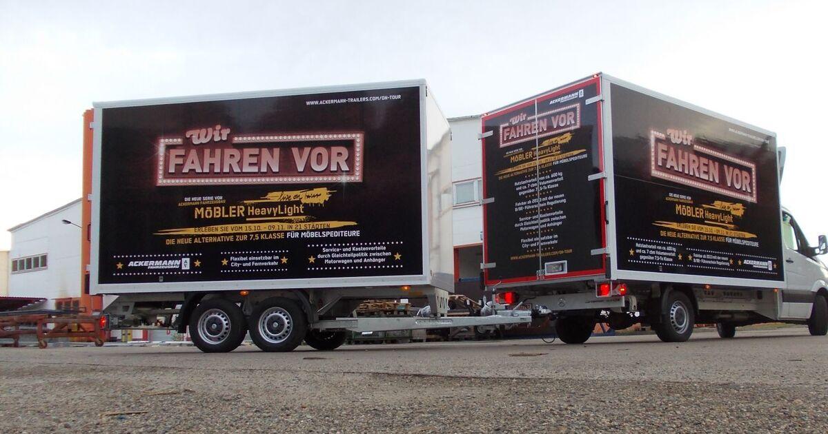 mercedes sprinter mit ackermann anh nger eurotransport. Black Bedroom Furniture Sets. Home Design Ideas