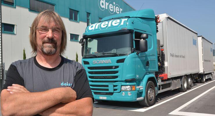 Als deutscher Lkw-Fahrer in der Schweiz.