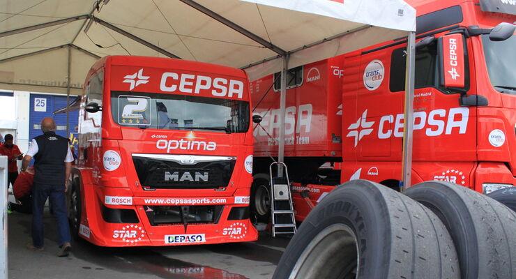 Antonio Albacete bereitet sich auf den Truck-Grand-Prix am Nürburgring vor.