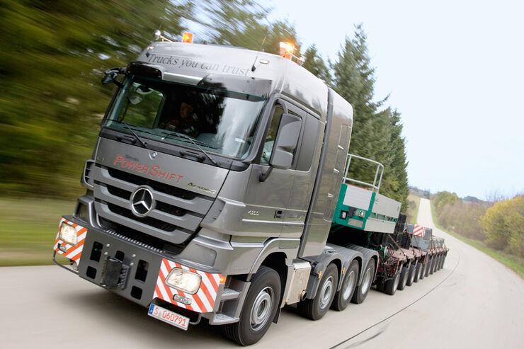 Antrieb, Antriebstechnik, Turbokupplung, Schwerlastzug, Mercedes, Actros, SLT, Lkw, Test