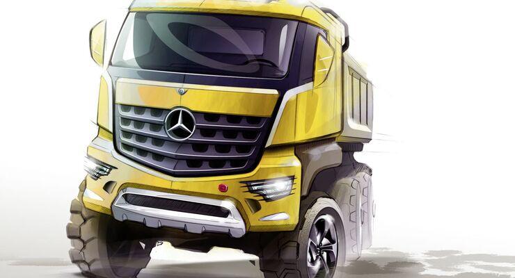 Arocs, Mercedes-Benz, Daimler, Baufahrzeug