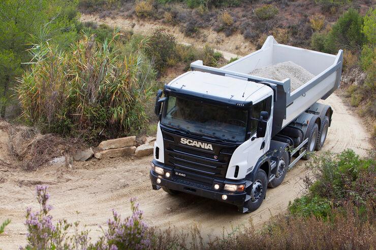 Baufahrzeuge von Scania