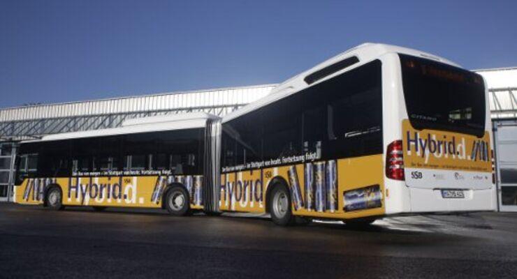 Citaro Hybrid fährt in Stuttgart