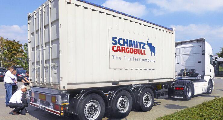 Containerchassis von Schmitz Cargobull