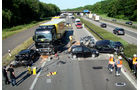 Crashanalyse, Lkw-Unfall, MAN