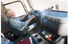 DAF, CF 85.410 8x4, Innenraum, Fahrbericht, Test, Offroad, Kipper, Meiller, Cockpit, Fahrersitz, Lenkrad, Amaturenbrett