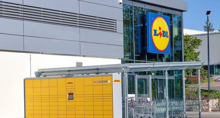 DHL-Packstation bei Lidl