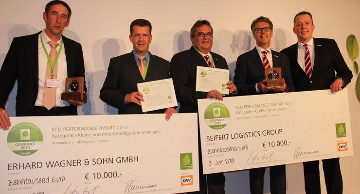 DKV ECO Performance Award, Preisverleihung 2013