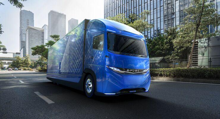 Daimler Trucks präsentiert E-FUSO und vollelektrischen schweren Lkw Vision One
