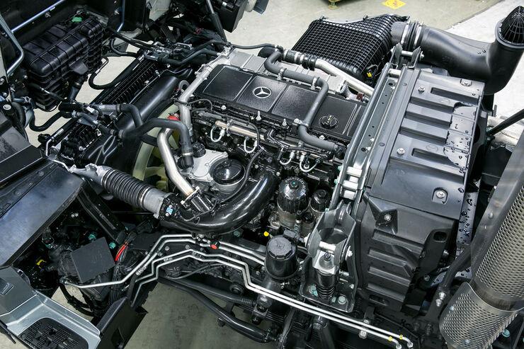 Der neue Mercedes Arocs – Motoren und Getriebe