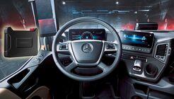 Die TomTom Bridge Hub kommt im neuen Actros von Daimler zum Einsatz.
