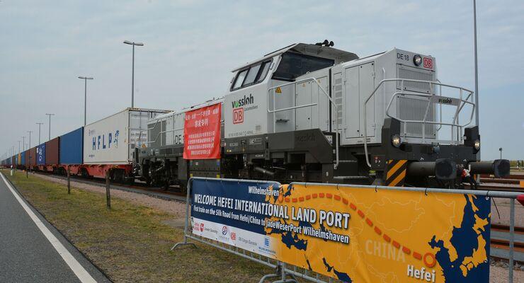 Direktzug aus China am Jade Weser Port