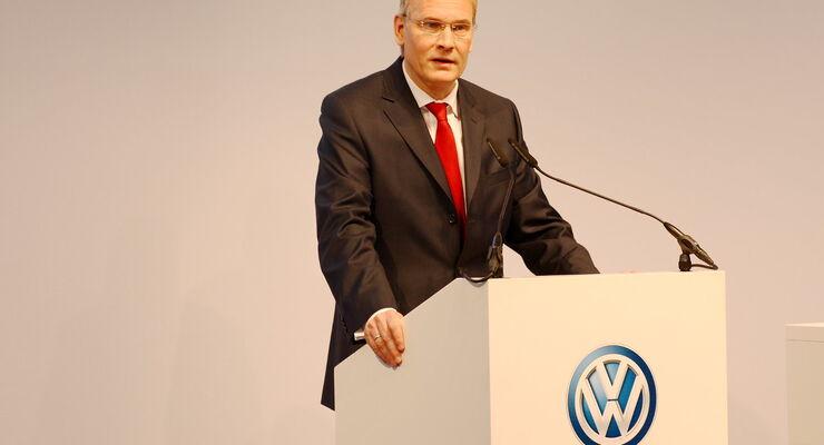 Dr. Eckhard Scholz, Sprecher des Markenvorstands VW Nutzfahrzeuge