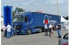 ET-Radio Stammhörer Karsten Glasschik machte seinen Lastzug zum Demoobjekt für eine mobile Waschanlage.