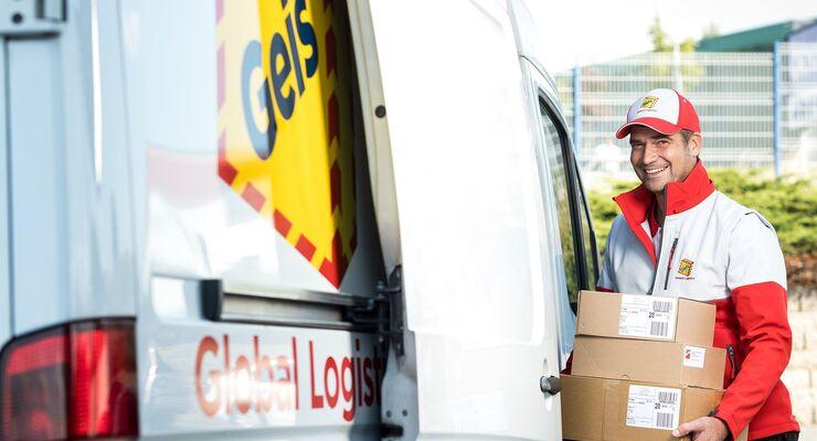 Eurodis-Partner Geis bei der Paket-Zustellung