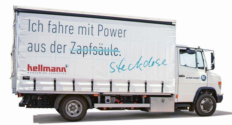 Fahrzeugübergabe eTransport an Hellmann Worldwide Logistics