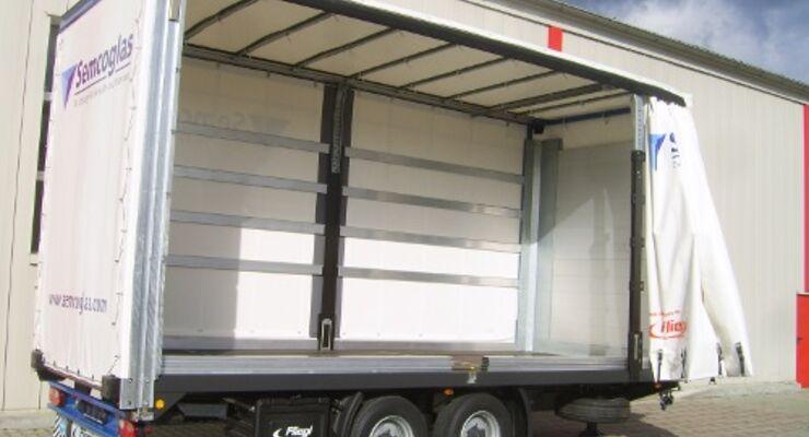 Fliegl: Dachvariante für Glastransporte