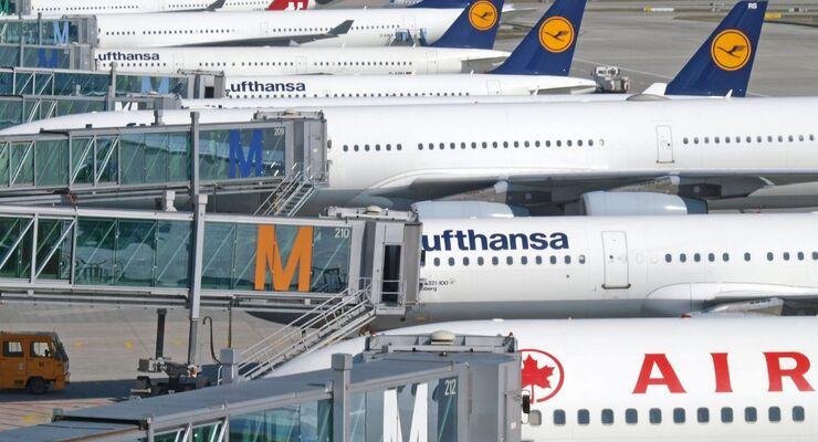Flughafen, Flugzeuge, Lufthansa