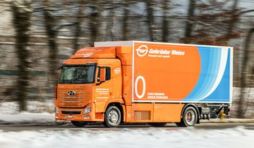 Gebrüder Weiss testet den Hyundai XCIENT Fuel Cell.