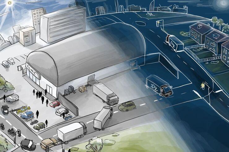 Geräuscharme Logistikdienstleistungen für Innenstädte durch den Einsatz von Elektromobilität (GeNaLog)