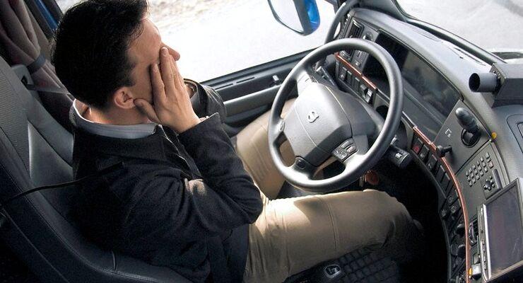 Gesundheit, Berufskrankheiten, Fahrer in Fahrerkabine