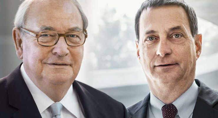 Heinz Hermann Thiele, Dr. Bernd Bohr (rechts)