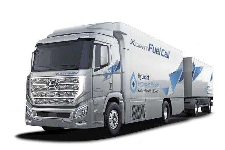 Hyundai H2 Xcient Brennstoffzellen-Lkw Wasserstoff-Lkw Brennstoffzelle Wasserstoff