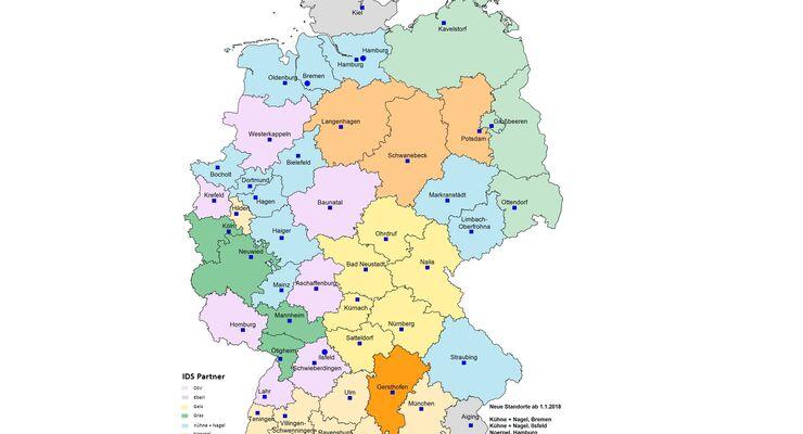 IDS Deutschland.karte Netzstruktur