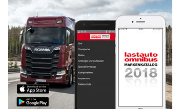 Icon der lastauto omnibus Markenkatalog App 2016