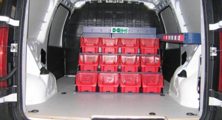Im Dacia Van alles im Griff