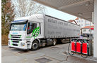 Iveco Stralis 440S33 CNG, Tankversuch, Tankstelle