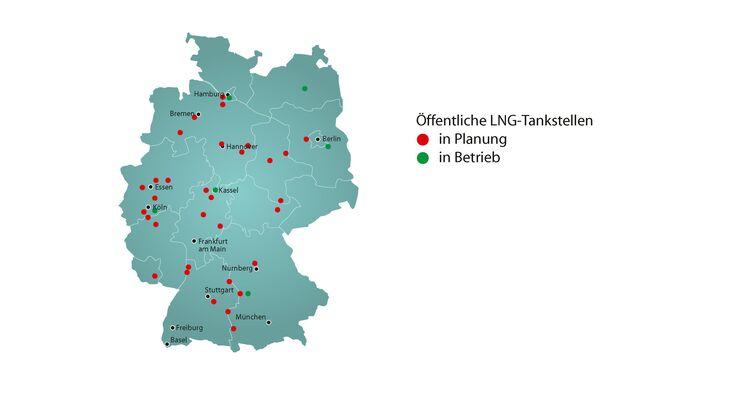 LNG, Flüssigerdgas, LNG-Tankstelle