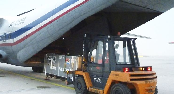 Logistik, Conceptum Sport Logistics, Verladung, Frankfurt