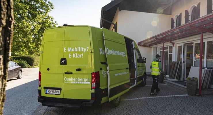 MAN eTGE bei Quehenberger Logistics