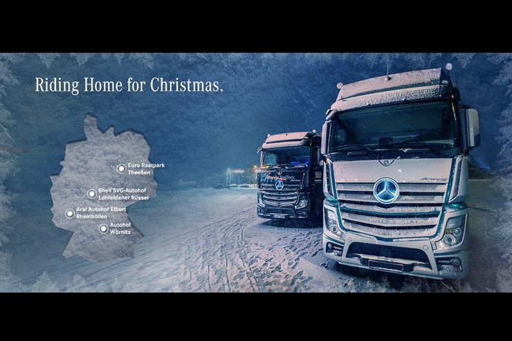 Mercedes-Benz Riding Home for Christmas Tour