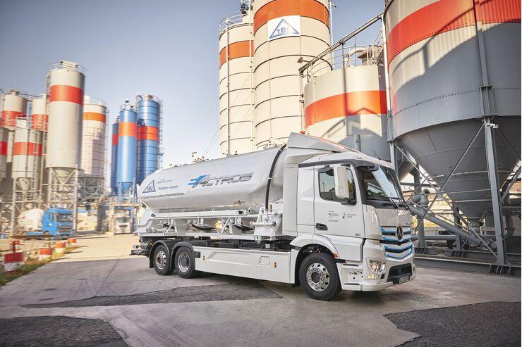 Mercedes-Benz eActros bei TBS Transportbeton