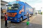 Mercedes, Lastzüge werden auf Hochglanz gebracht