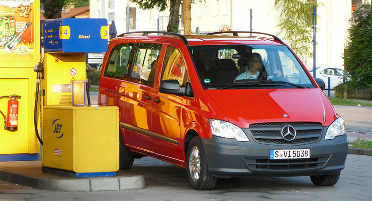Mercedes Vito, Tankstelle Jet