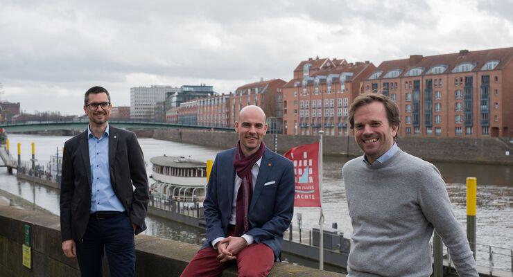 Mike Holtkamp, Christoph Meyer und Dr. Christian Grotemeier (v.l.) bilden die Geschäftsführung der Bundesvereinigung Logistik (BVL).