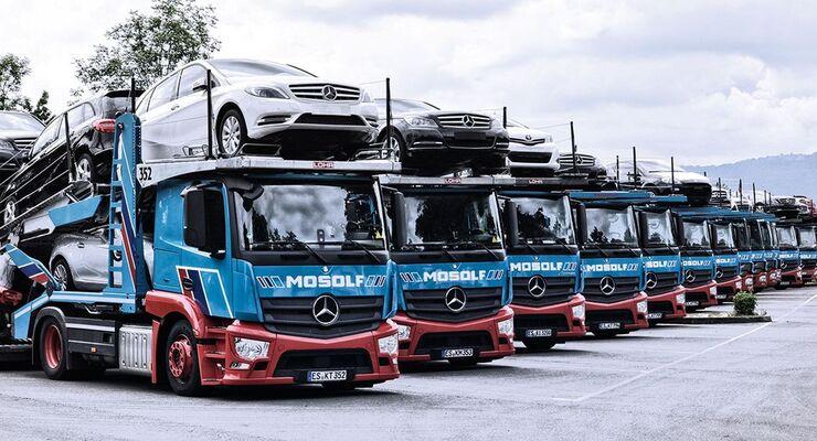 Mosolf, Automobiltransporte, Fahrzeuglogistik, Autos