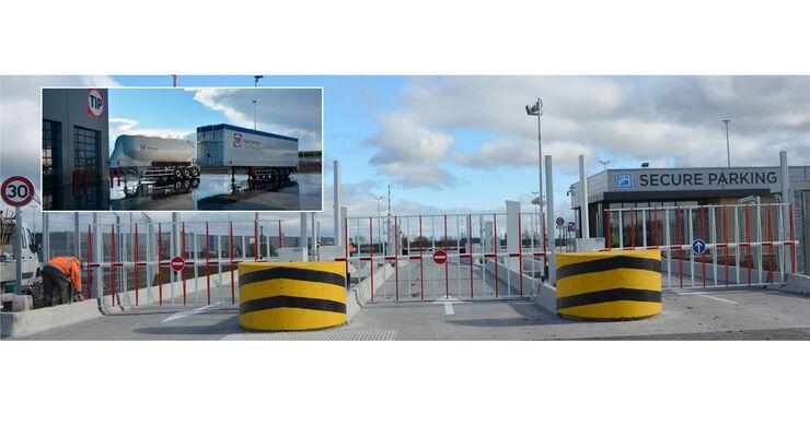 Nach SSTPA zertifizierter Lkw-Parkplatz als Businessmodell.