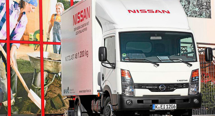 nissan: cabstar mit kofferaufbau - eurotransport