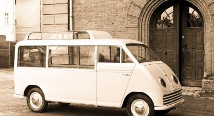 Nostalgiefahrten im Schnelllaster von DKW