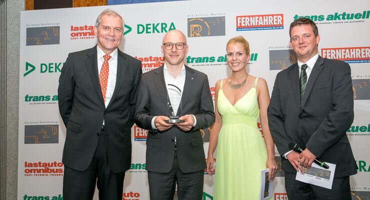 Preisübergabe, YPTA, Young Professionals Truck Award, Kühl, Clemens, Tapprogge, Braun